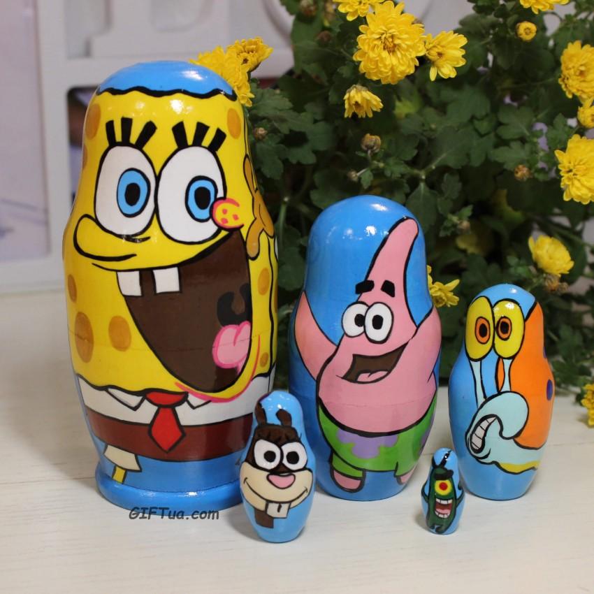 Матрешка Губка Боб Spongebob 5ка
