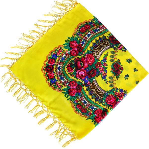 Платок украинский народный желтый