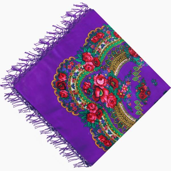 Украинский платок национальный фиолетовый 125*125 Панночка